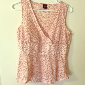 Gap Pink Polka Dot Blouse